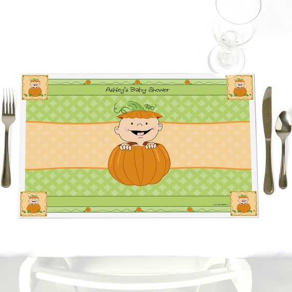 Little Pumpkin Party Table Decorations Personalized Baby