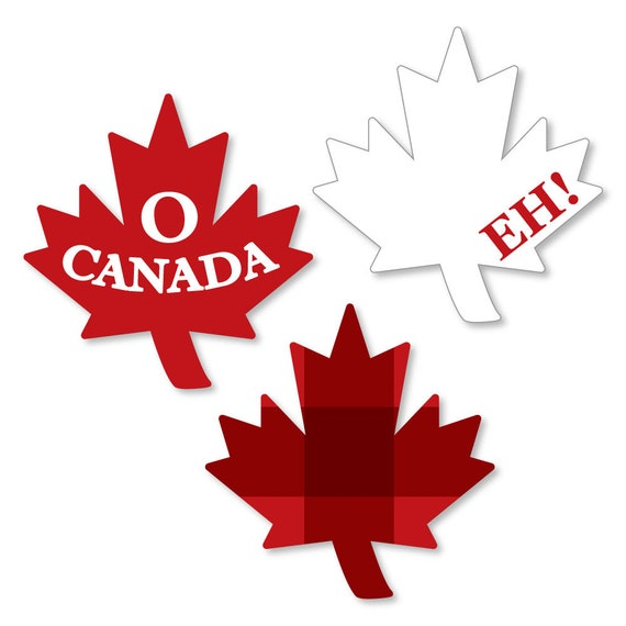 Canada Day - DIY Shaped Die Cut Paper Cut Outs - Canadian ...
