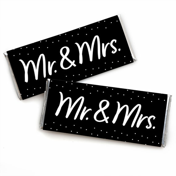 /& Mrs Bridal Shower Favors ~ Personalized Candy Bar Wrappers fit the 1.55 oz Hershey/'s Bar ~ DIGITAL OR PRINTED Mr