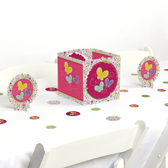 Butterfly And Flowers Centerpiece Table Decoration Kit