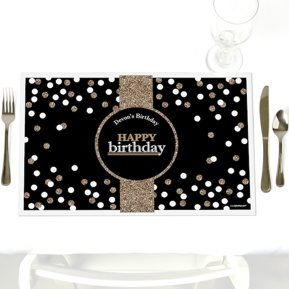 Happy Birthday Party Table Decorations Adult