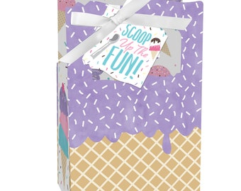 Scoop Up The Fun - Ice Cream - Sprinkles Party Favor Boxes - Set of 12