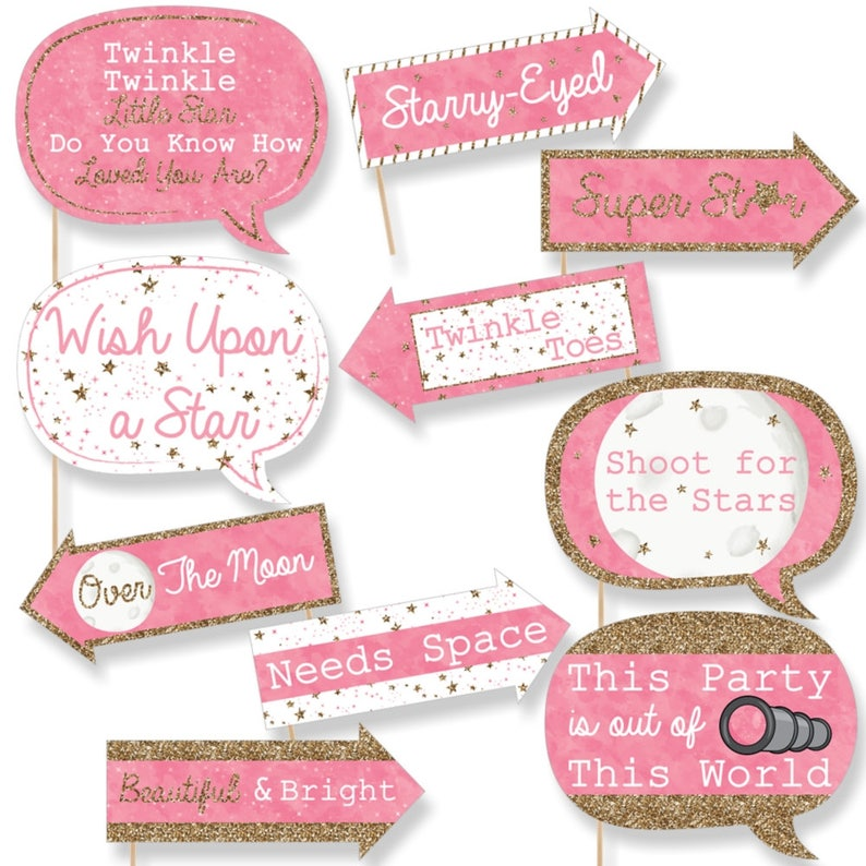 eb277ac2fe7 Funny Pink Twinkle Twinkle Little Star Baby Shower Photo