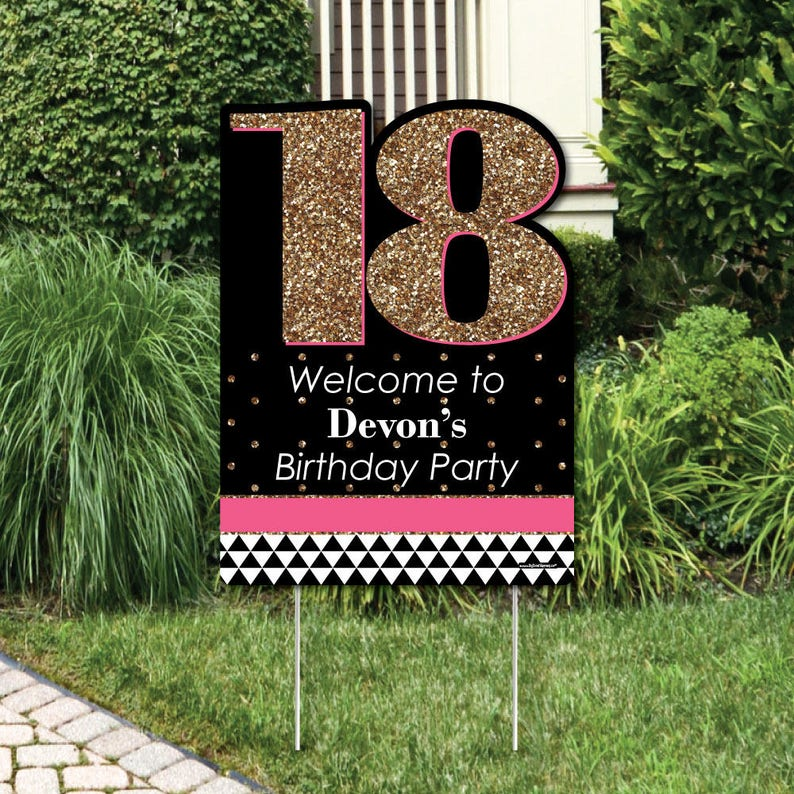 Chic 18th Birthday Party Decorations