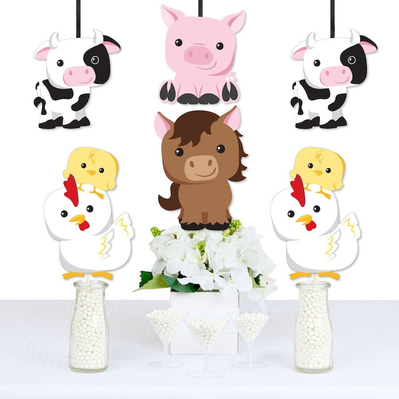 Big Dot of Happiness Farm Animals 22 Count Barnyard Baby Shower or Birthday Party Game Scratch Off Cards