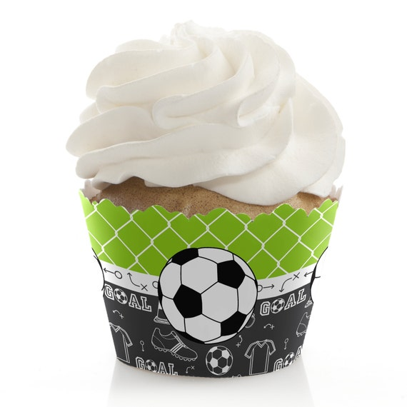 Soccer Baby Shower Cupcake Decorations And Supplies Etsy