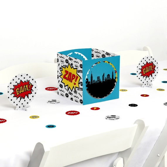 Superhero Centerpiece Table Decoration Kit Baby Shower