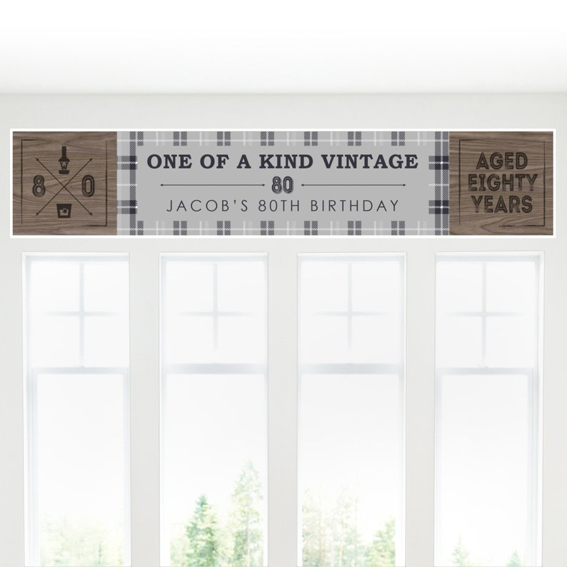 80th Birthday Party Personalized Banner 80th Birthday Decoration 80th Milestone Birthday Personalized Banner Birthday Party Decorations