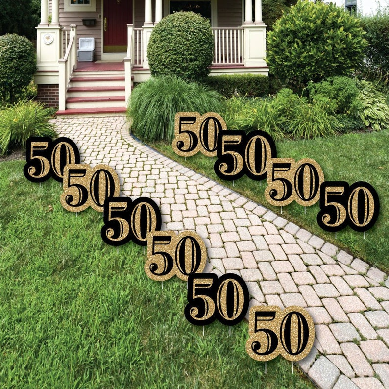 50th Birthday Lawn Decorations Outdoor Birthday Party