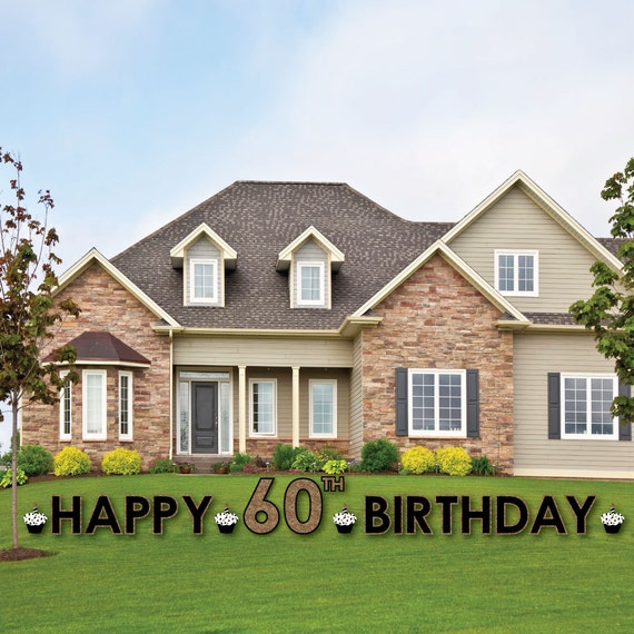 60th Birthday Yard Sign Outdoor Lawn Decorations
