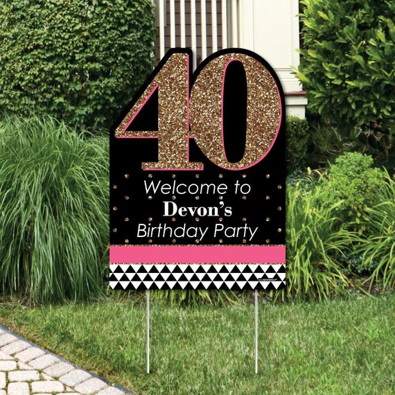 Chic 40th Birthday Party Decorations