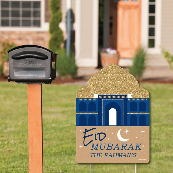 Ramadan Welcome Sign Eid Mubarak Outdoor Lawn Decorations Etsy