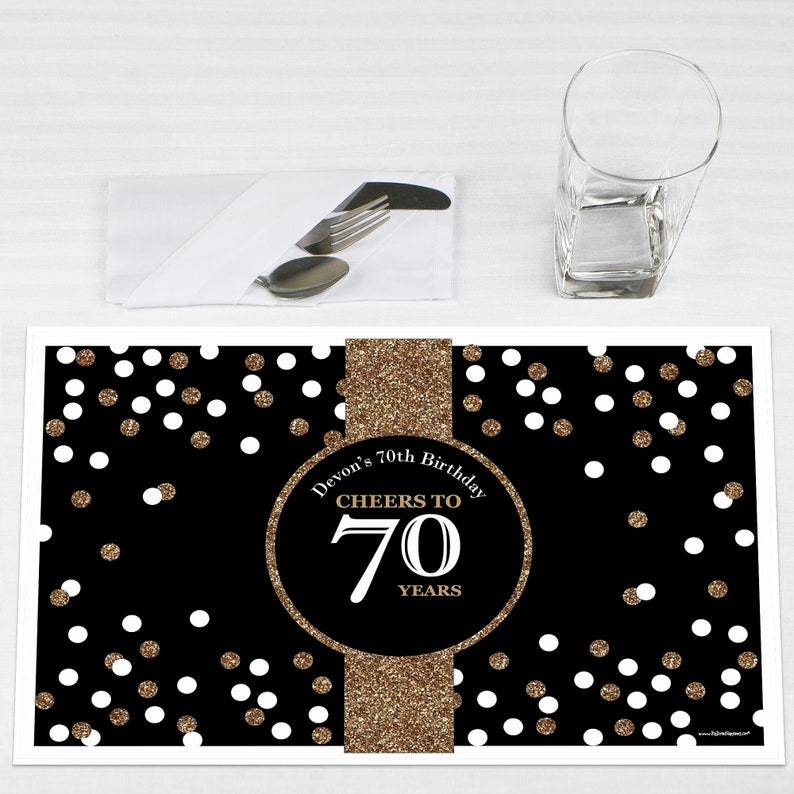 70th Birthday Party Table Decorations Adult