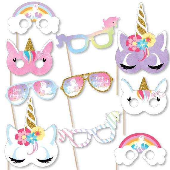 Rainbow Unicorn - Baby Shower or Birthday Props - Magical Unicorn