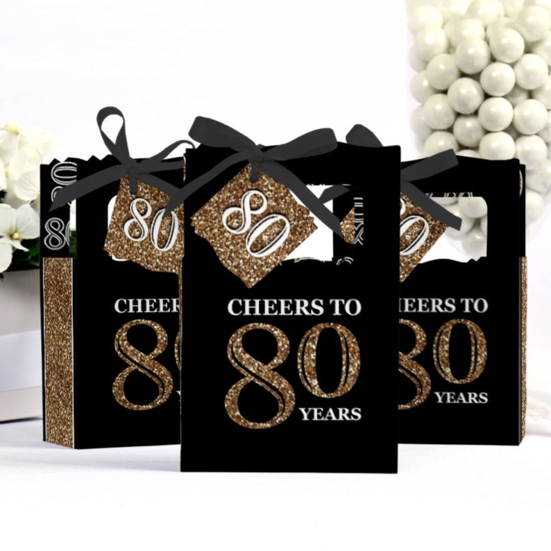 80th Birthday Party Favors For Parties Favor Boxes