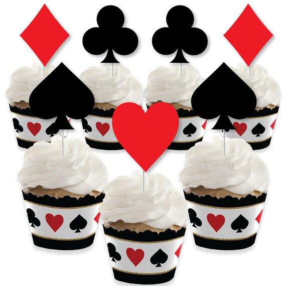 Set of 24 Candy Bar Wrapper Casino Party Favors Las Vegas
