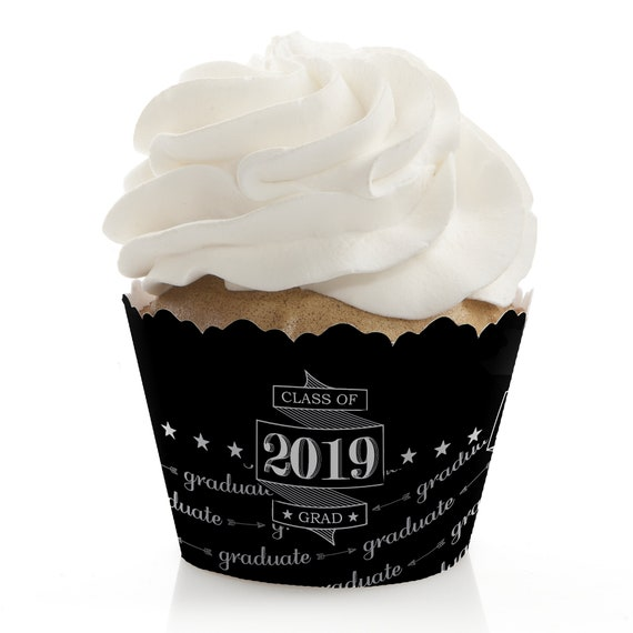 Graduation Cupcake Wrappers 2019 Grad Party Cupcake Decorations Graduation Cheers Cupcake Supplies Set Of 12 Cupcake Liners