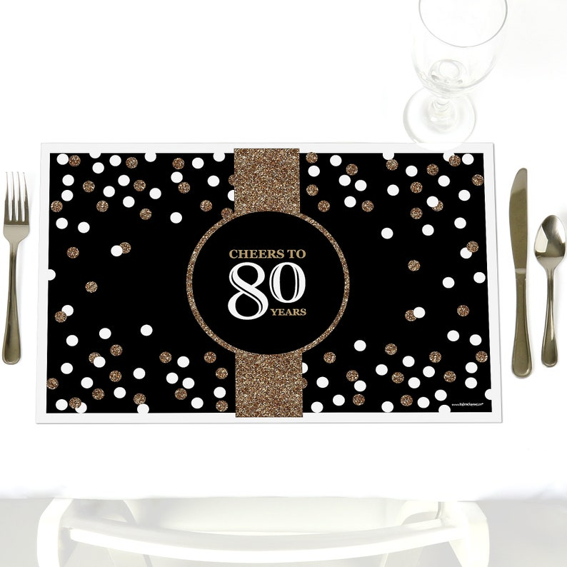 80th Birthday Party Table Decorations Adult