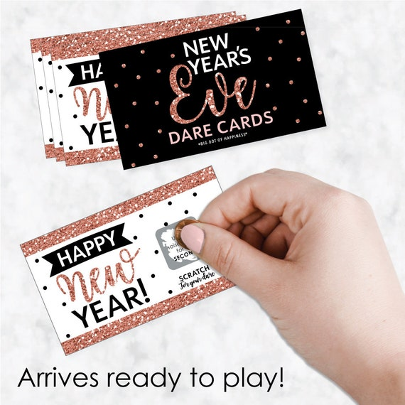 New Years Eve 22 Count 2019 New Years Eve Party Game Scratch Off Dare Cards Gold