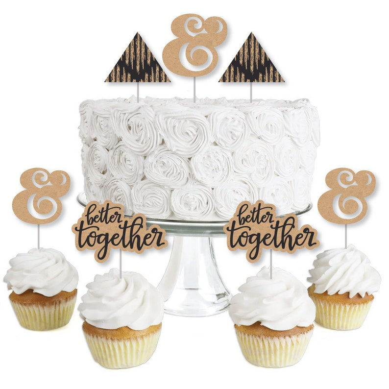 24 Count Bling Diamond Ring Glitter Cupcake Picks Toppers Wedding Bridal Shower Party Supplies