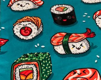 Kawaii Baby Blanket Waterproof Sushi Minky Outdoor Stroller Car Seat Gift