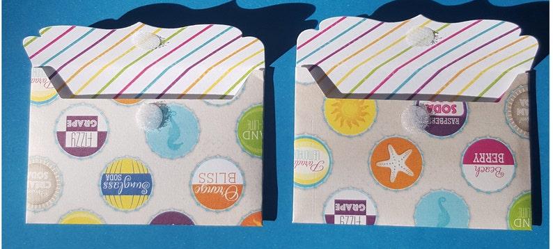 gift card envelopes, advice card envelopes, wedding favors, party favors, small envelopes Mini Envelopes and Mini Note Card Sets
