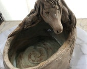White Horse Clay Bowl