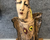 Wormwood Clay Face Vessel