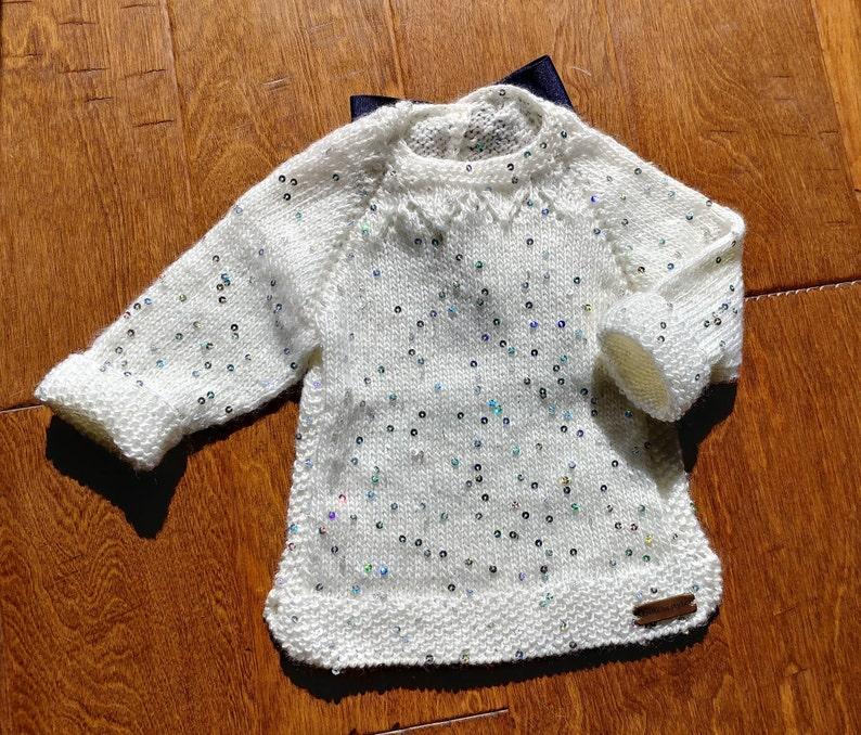 cdf869993 Baby sweater girl sweater baby top baby tunic Off white