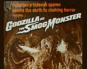 Godzilla vs The Smog Monster  (Version A)   Movie Poster Print