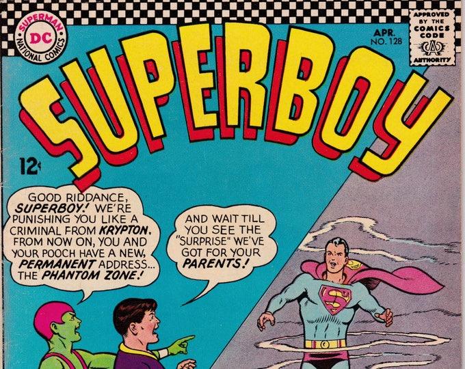 Superboy #128   April 1966   DC Comics   Grade Fine