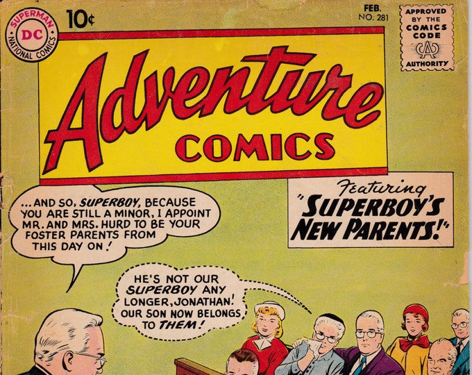 Adventure Comics #281  February 1961   DC Comics  Grade G/VG