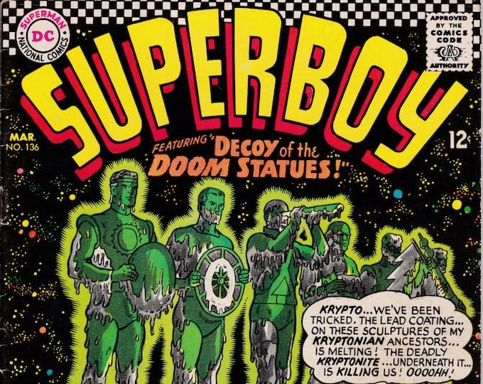 Superboy #136    March 1967    DC Comics   Grade VG/F