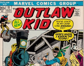The Outlaw Kid #11 - August 1972 Issue - Marvel Comics - Grade VF