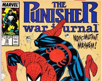 Punisher War Journal #15 (1988 1st Series) February 1990     Marvel Comics   Grade VG/F