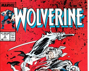 Wolverine #2 (1st Series 1988) December 1988    Marvel Comics    Grade NM