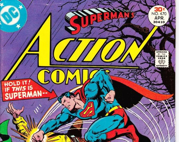 Action Comics #470  April 1977   DC Comics  Grade F/VF