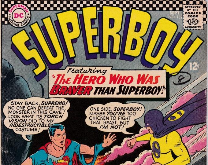 Superboy #132 (1st Series 1949-1979) September 1966   DC Comics  Grade VG