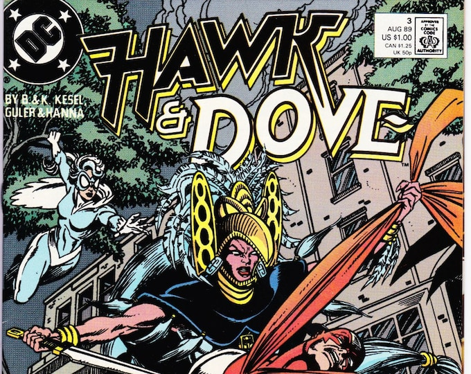 Hawk and Dove #3 (3rd Series 1989) August 1989   DC Comics    Grade NM