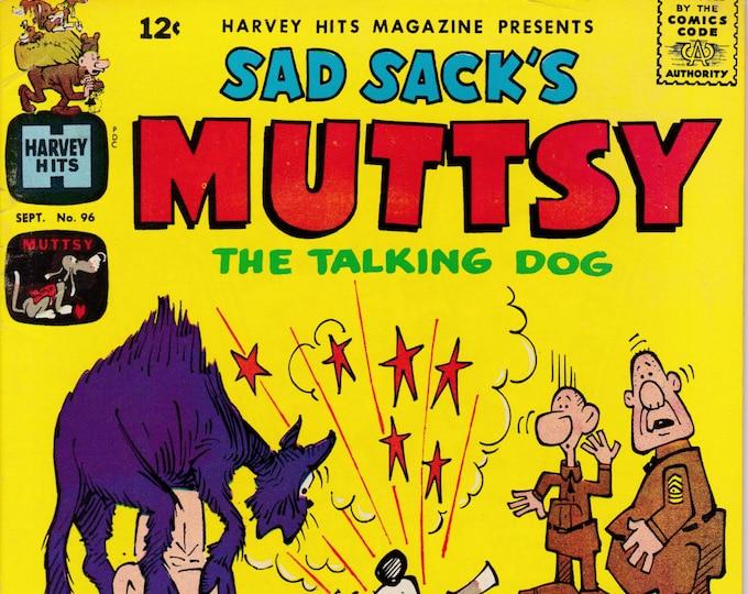 Harvey Hits #96  Sad Sack's Muttsy The Talking Dog   September 1965  Harvey Comics   Grade F/VF