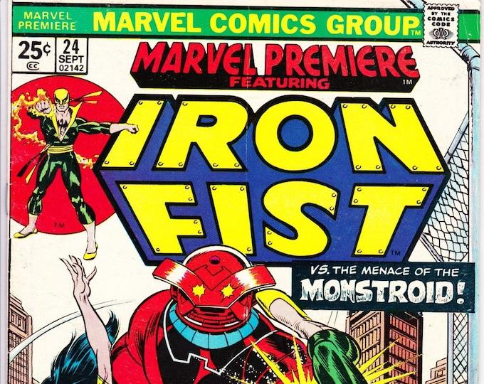 Marvel Premiere #24 (1st Series 1972) September 1975    Marvel Comics   Grade F/VF