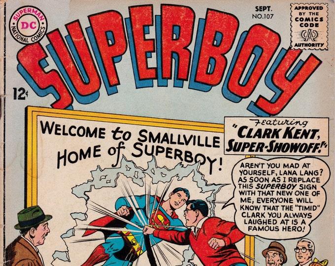 Superboy #107   September 1963   DC Comics   Grade G+