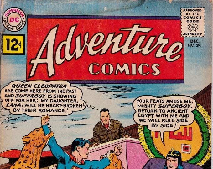 Adventure Comics #291 (1st Series 1938) December 1961   DC Comics  Grade G/VG
