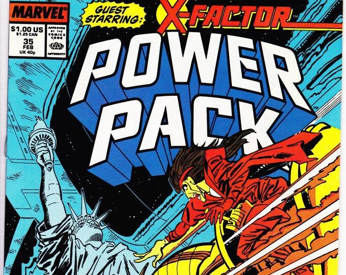 Power Pack #35 (1984 1st Series) February 1988   Marvel Comics   Grade NM