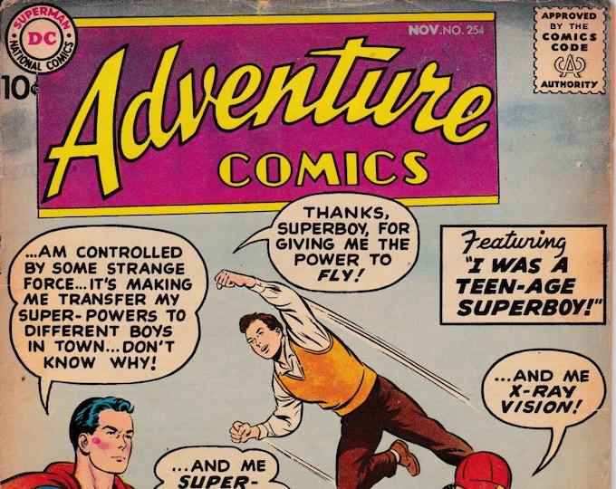 Adventure Comics #254    November 1958    DC Comics   Grade G+