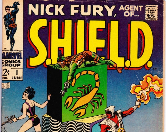 Featured listing image: Nick Fury Agent of SHIELD #1 (1st Series 1968) June 1968   Marvel Comics   Grade VG/F  *Steranko Cover*