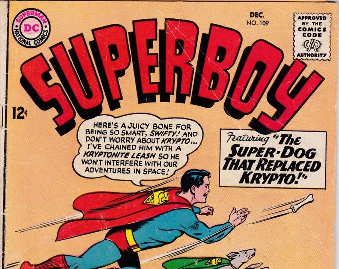 Superboy #109   December 1963   DC Comics   Grade VG
