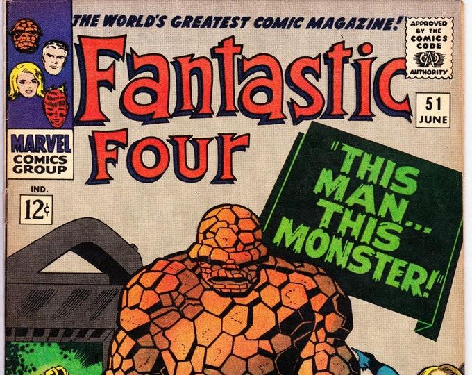 Featured listing image: Fantastic Four #51 (1st Series 1961) June 1966  Marvel Comics  Grade F/VF