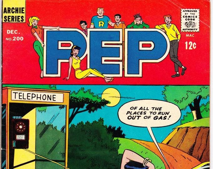 Pep Comics #200 (1st Series 1940) December 1966  Archie Publications  Grade Fine