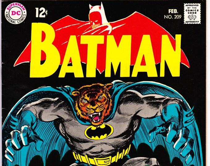 Featured listing image: Batman #209 (1st Series 1940) February 1969    DC Comics    Grade NM